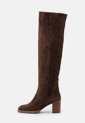 Over-the-knee boots - dark brown