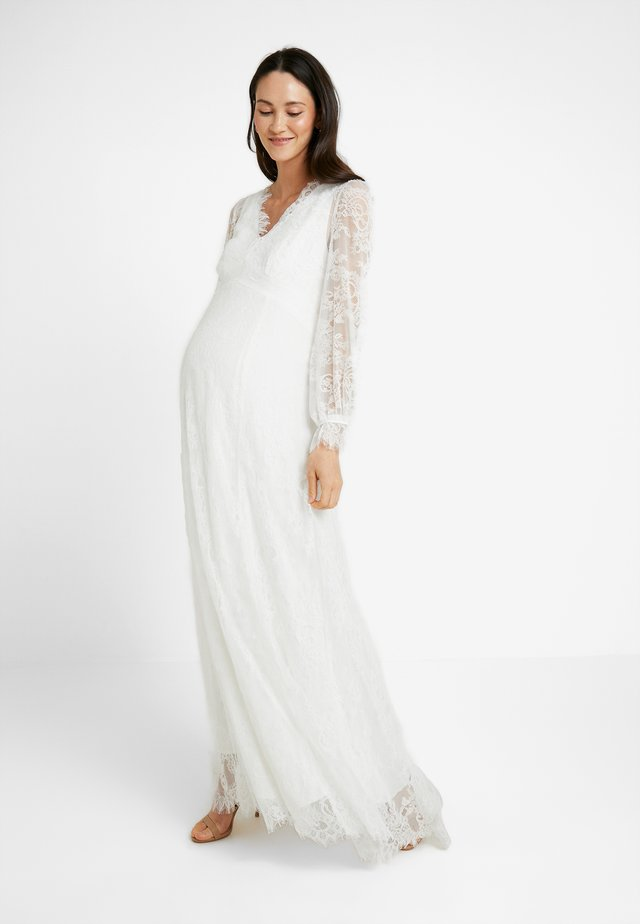 BRIDAL MATERNITY DRESS LONG - Gallakjole - snow white