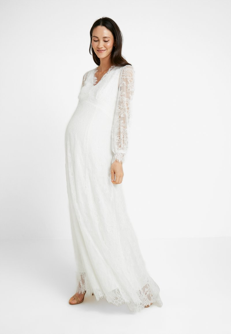 IVY & OAK Maternity - BRIDAL MATERNITY DRESS LONG - Occasion wear - snow white