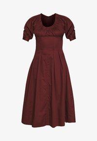 Who What Wear - WAIST DETAIL MIDI DRESS - Day dress - red - 4