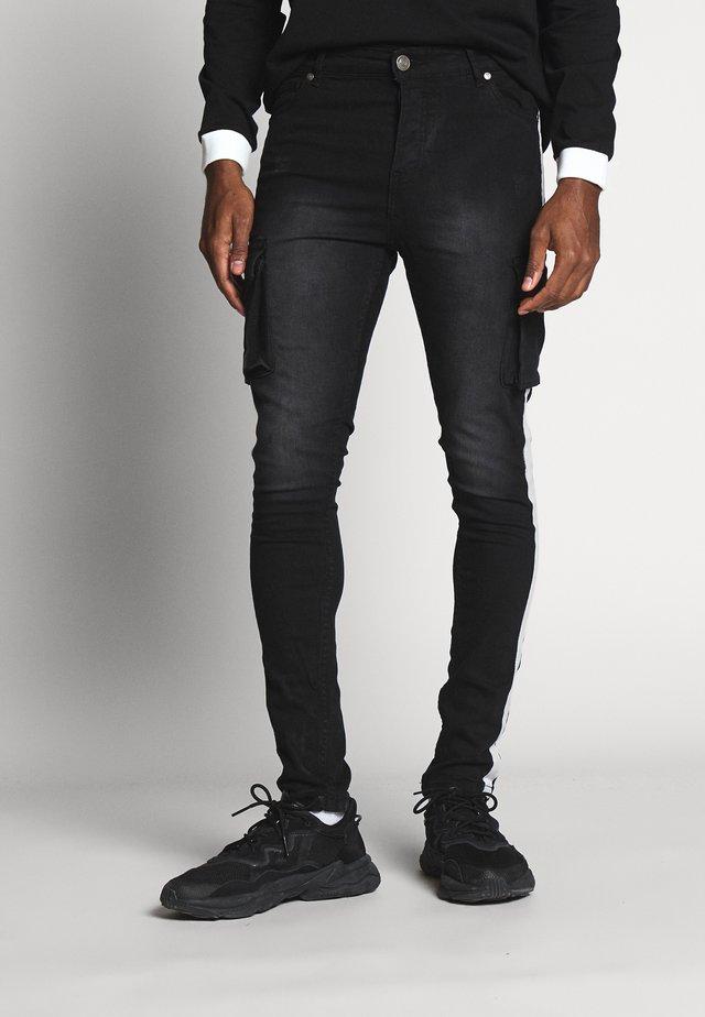 BOYD JEAN - Pantalon cargo - black