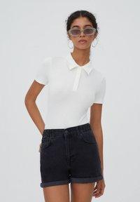 PULL&BEAR - Shorts di jeans - black - 3