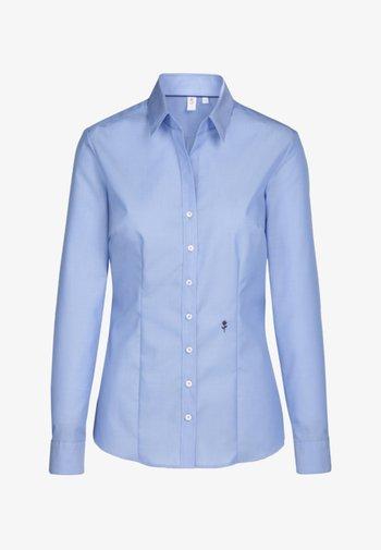 SCHWARZE ROSE - Button-down blouse - blue