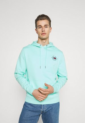CIRCLE CHEST HOODY - Hoodie - miami aqua