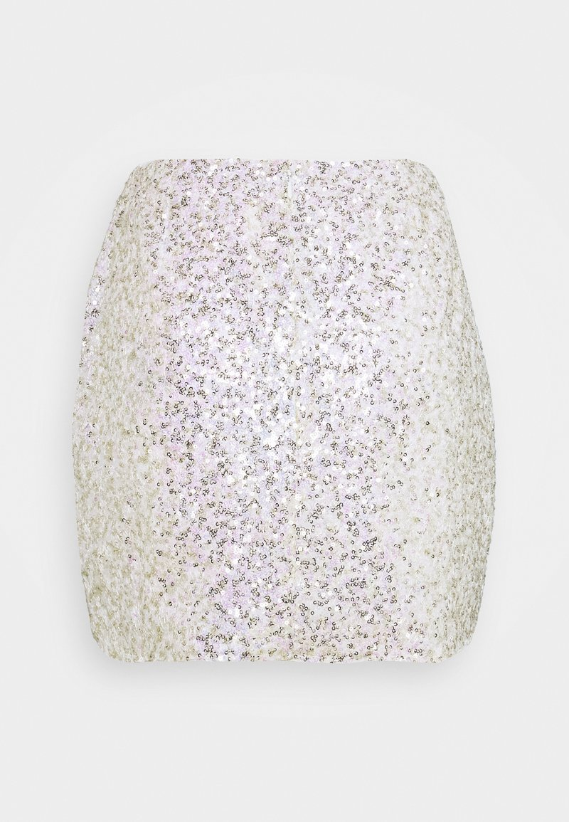 Glamorous - SEQUIN  - Minifalda - gold pink sequin
