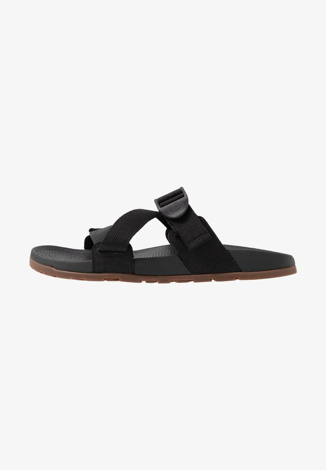 LOWDOWN SLIDE - Sandalias planas - black