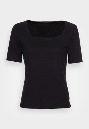 SUNIQ - Jednoduché triko - black