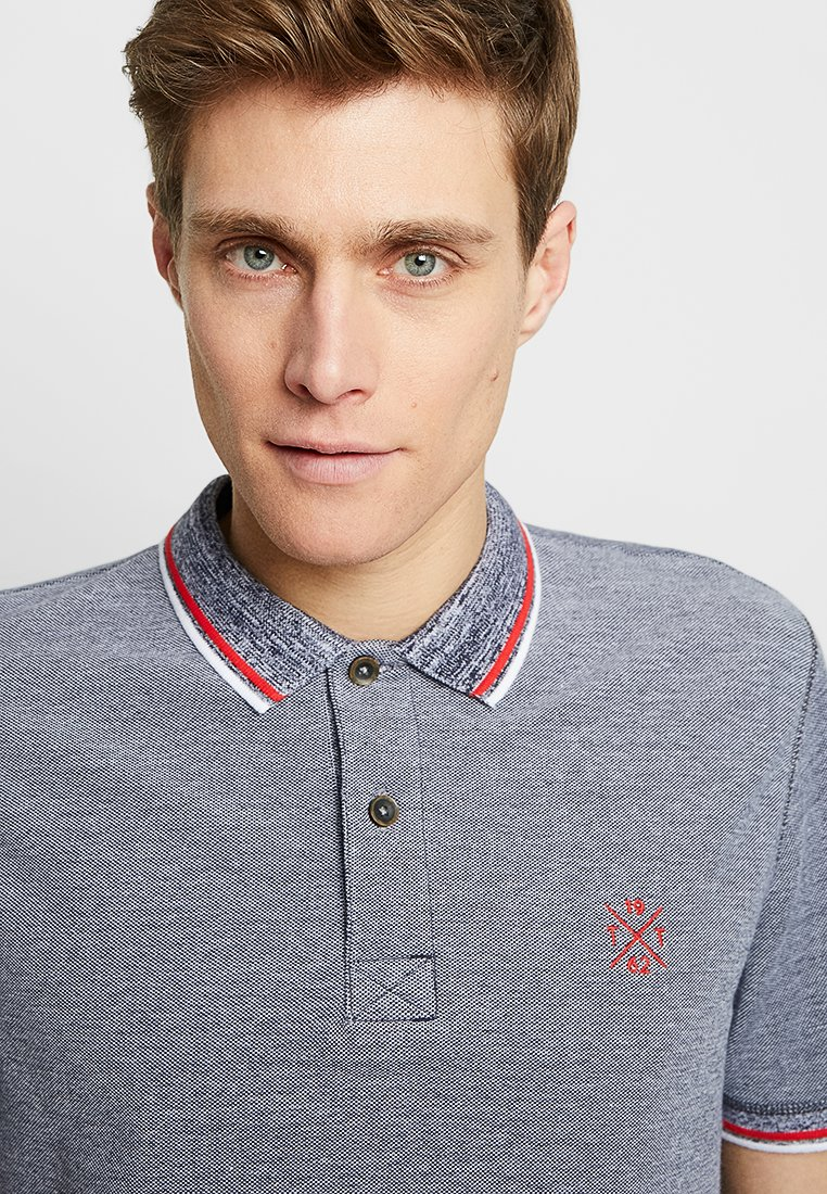TOM TAILOR Polo shirt - navy/white/blue e1DdG