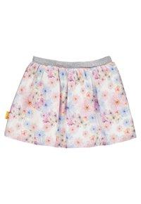 Steiff Collection - STEIFF COLLECTION ROCK MIT BLÜTENMOTIVE - A-line skirt - bright white - 1