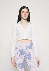 Monki - FREDDIE TOP - Long sleeved top - white - 0