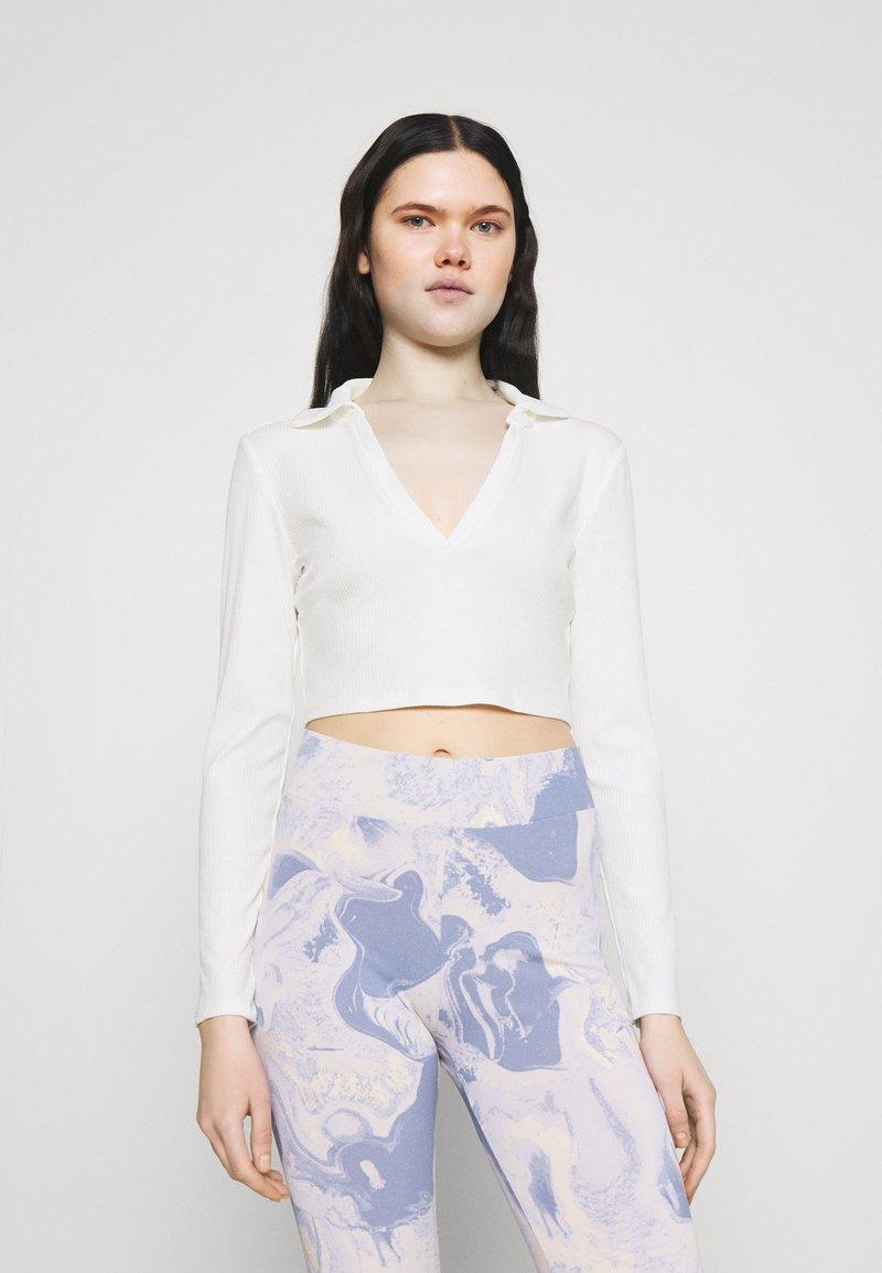 Monki - FREDDIE TOP - Long sleeved top - white