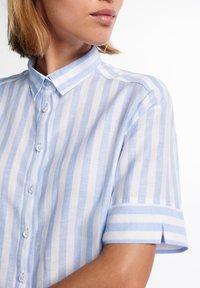 Eterna - Button-down blouse - hellblau weiß - 2