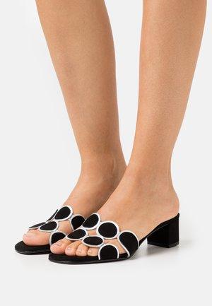 ERICA NEW - Pantofle na podpatku - black
