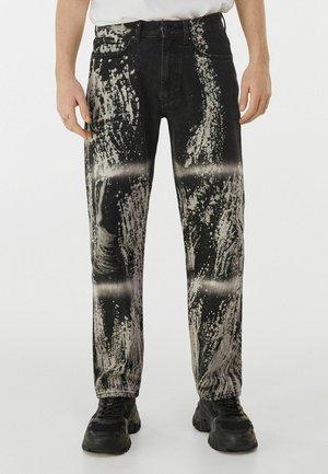 MIT TIE DYE - Straight leg jeans - black