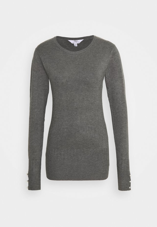 CUFF CREW NECK JUMPER - Jumper - grey