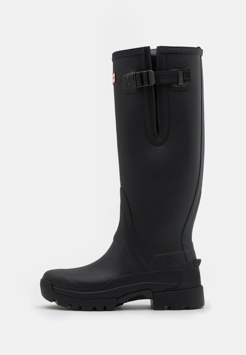 Hunter ORIGINAL - MENS BALMORAL SIDE ADJUSTABLE NEO LINED TECH SOLE BOOT TALL - Wellies - black