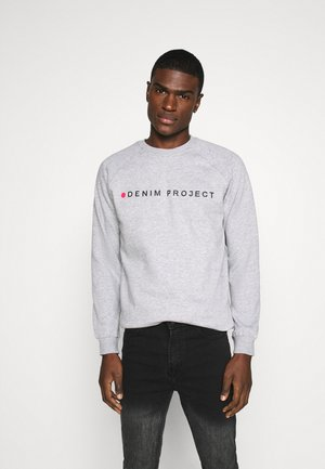 LOGO CREW - Sweatshirt - mottled light grey