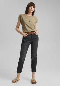 edc by Esprit - Print T-shirt - light khaki - 1