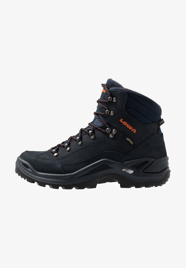RENEGADE GTX MID - Hiking shoes - navy/orange