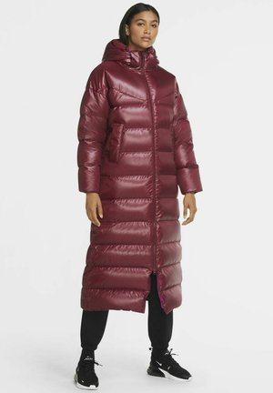 PARKA - Down coat - dark beetroot cactus flower black