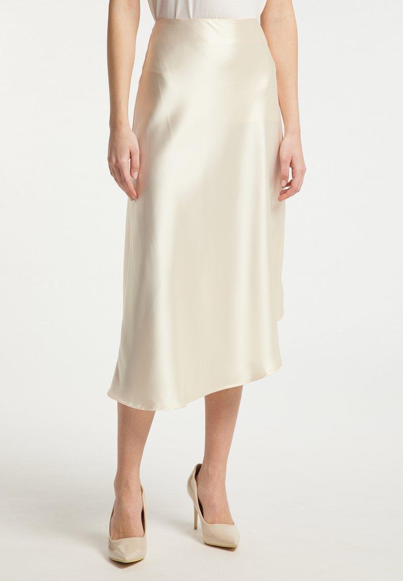 DreiMaster - Áčková sukně - champagner