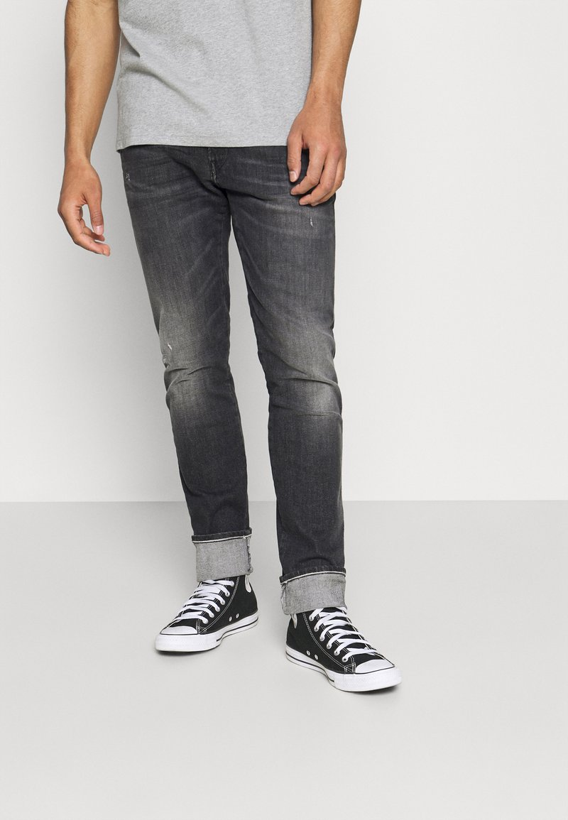 Replay - ANBASS AGED  - Straight leg jeans - dark grey