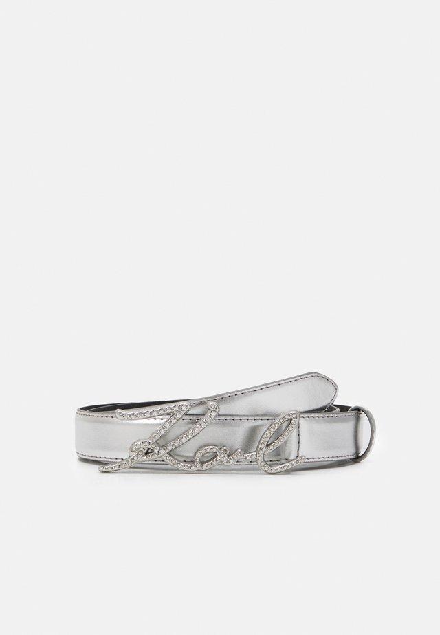 SIGNATURE SPARKLE BELT - Riem - silver