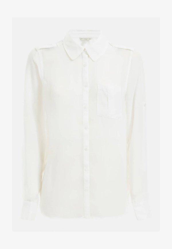 Guess BRUSTTASCHE - Koszula - weiß/biały RLLJ