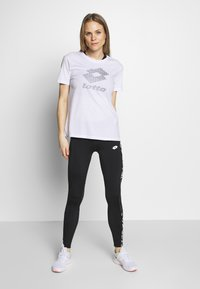 Lotto - VABENE LEGGING  - Leggings - all black/bright white - 1