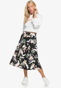 Roxy - NIGHT TIME - A-line skirt - anthracite large praslin - 1