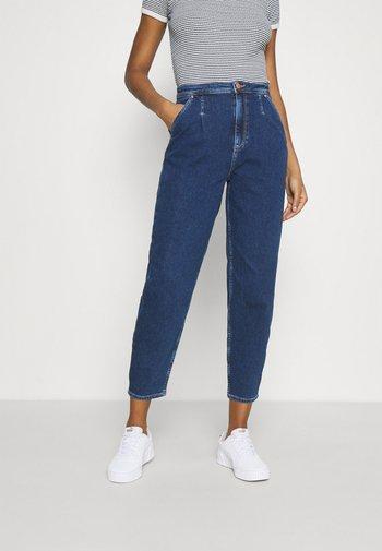 ONLLIVA SLOUCHY - Relaxed fit jeans - dark blue denim