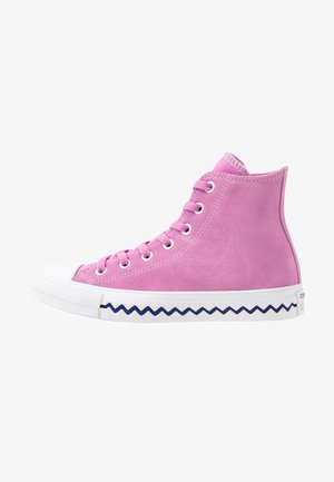 CHUCK TAYLOR ALL STAR TONGUE - High-top trainers - peony pink/university red/rapid teal