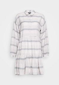 ONLMILA SHORT DRESS - Shirt dress - pumice stone/dark denim