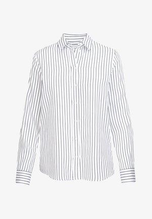 SCHWARZE ROSE SLIM FIT - Button-down blouse - weiss