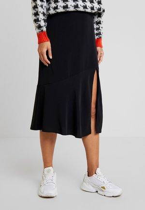 UMI SKIRT - Áčková sukně - black dark unique