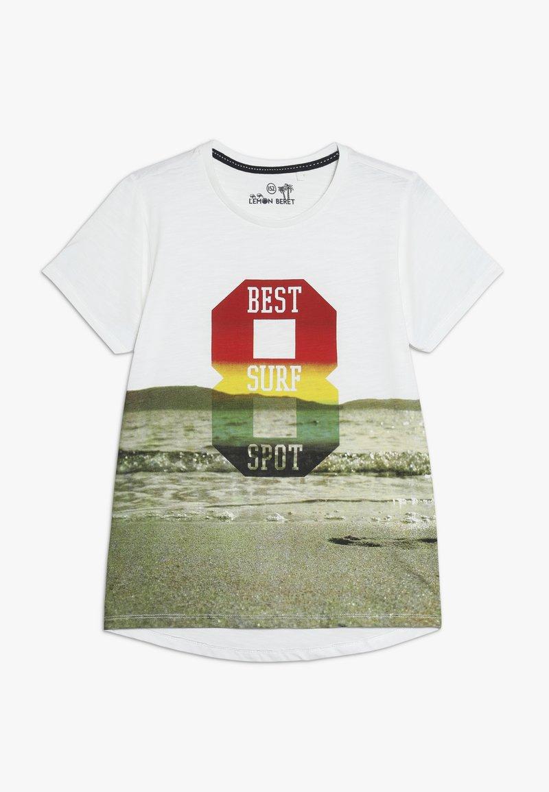 Lemon Beret - TEEN BOYS - Print T-shirt - marshmallow