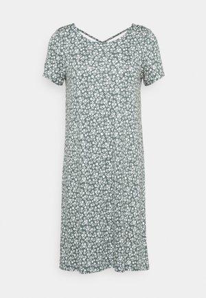 ONLBERA BACK LACEUP DRESS - Jersey dress - balsam green