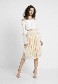 NA-KD - MIDI PLEATED SKIRT - A-line skirt - beige - 1