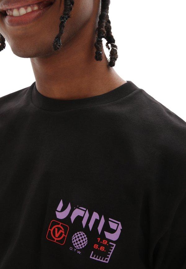 Vans T-shirt z nadrukiem - black/czarny Odzież Męska DNMO