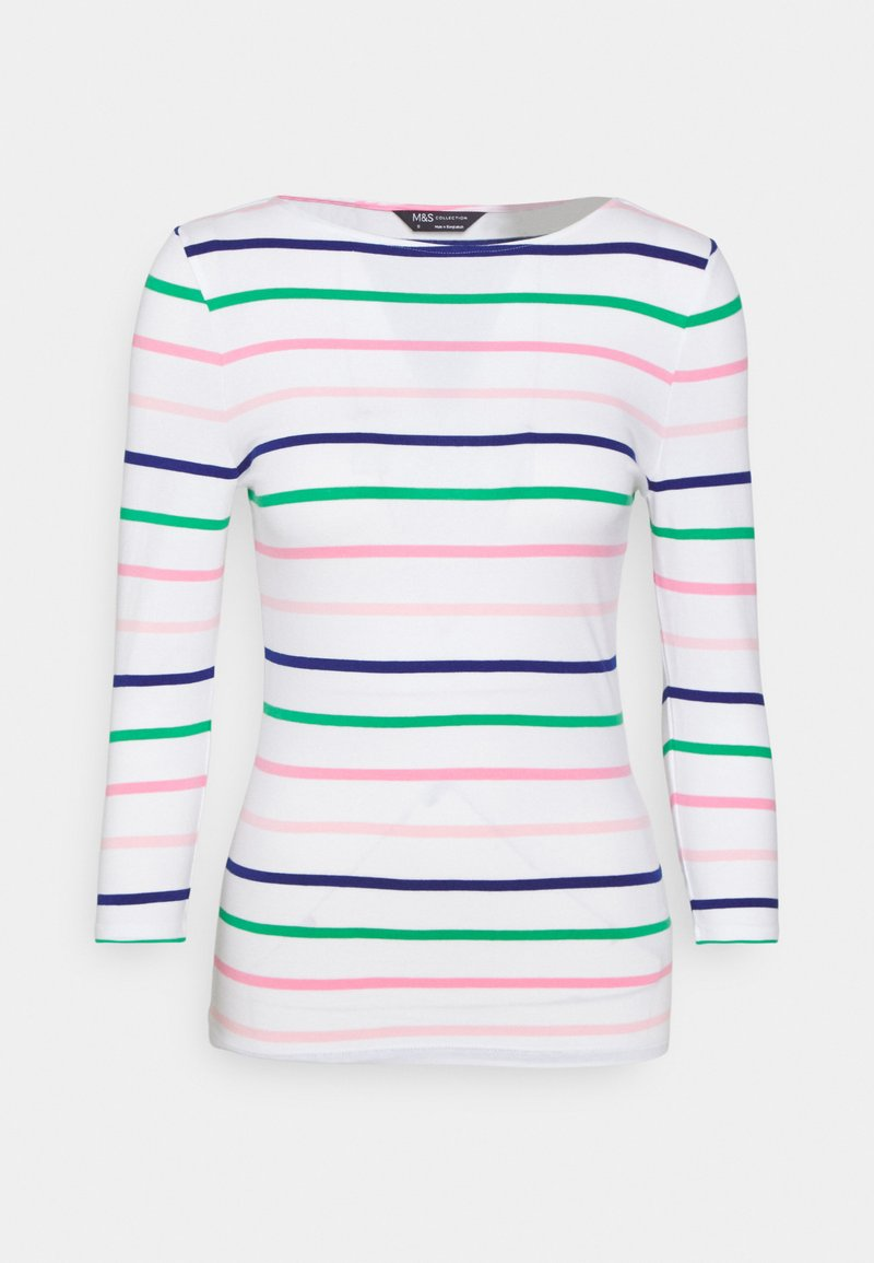 Marks & Spencer London - FITTED STRIPE - Long sleeved top - multicoloured