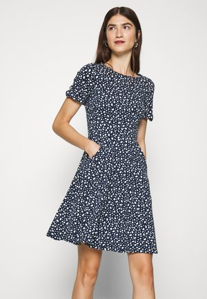 SPOT PRINT DRESS - Jerseykjole - navy