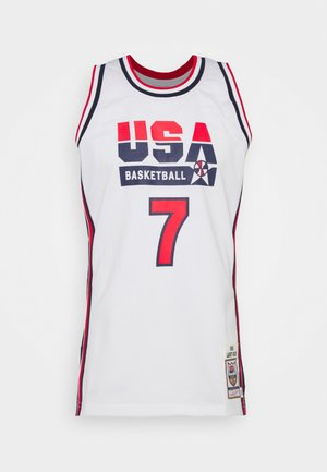 NBA TEAM USA 1992 USA BASKETBALL AUTHENTIC HOME LARRY - Pelipaita - white