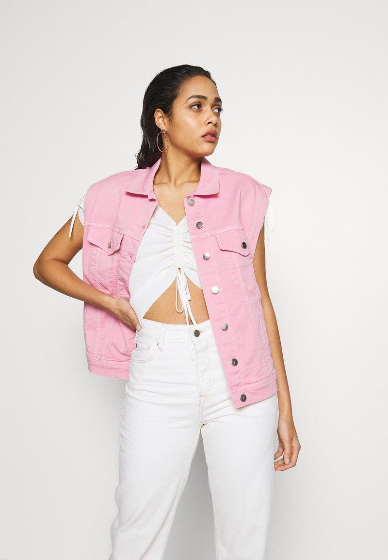 Pepe Jeans - DUA LIPA x PEPE JEANS - Vest - chewing gum