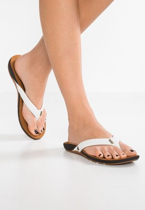 MISS J-BAY - Sandalias de dedo - white/tan