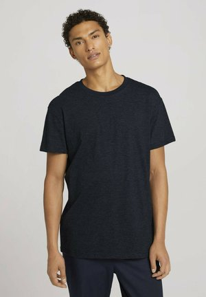 Print T-shirt - dark blue stripe