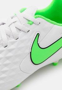 Nike Performance - TIEMPO JR LEGEND 8 CLUB FG/MG UNISEX - Kopačky lisovky - platinum tint/rage green - 5