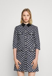 maje - RENATILA - Shirt dress - nœuds marine - 0