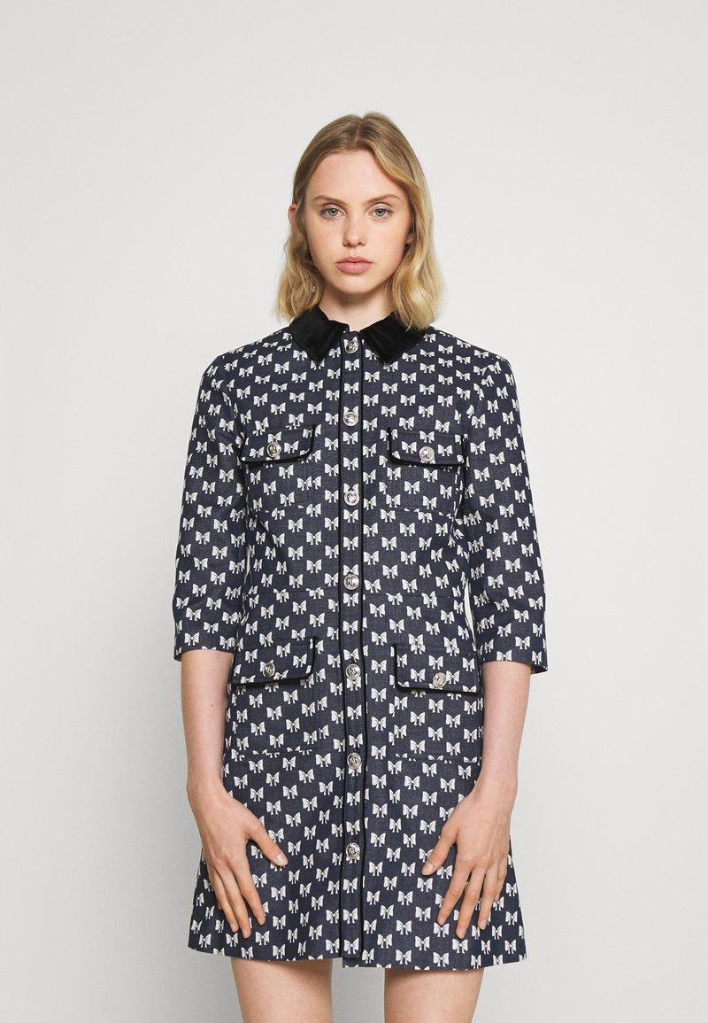 maje - RENATILA - Shirt dress - nœuds marine