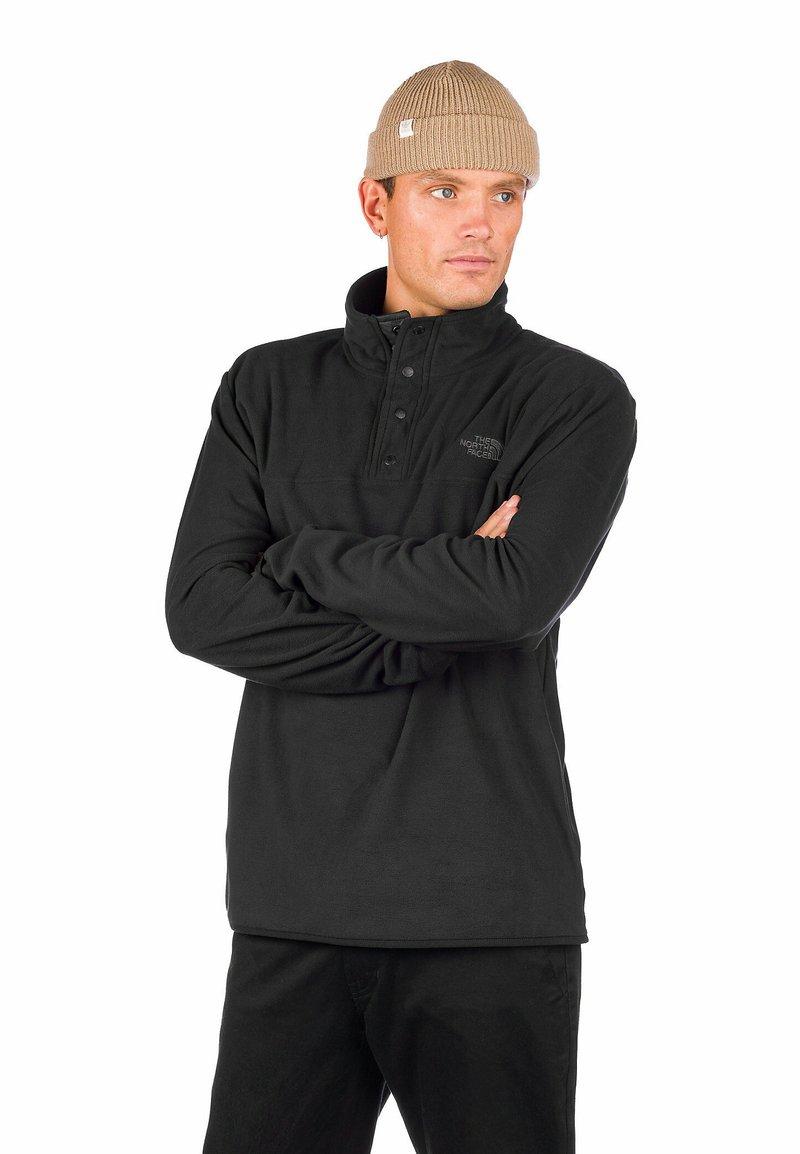 The North Face - M TKA GLACIER SNAP-NECK PULLOVER - Fleecetröja - tnf black/tnf black
