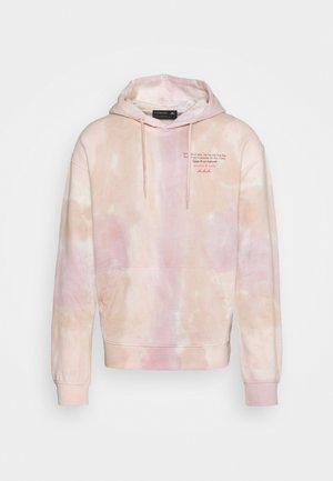 TIE DYED FELPA ARTWORK HOODIE - Sweatshirt - beige/light pink